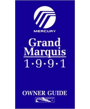 MARQUIS OWNERS MANUAL 1981 MERCURY BOOK