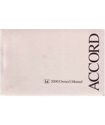 2000 Honda Accord Coupe Owners Manual