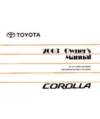 2003 toyota corolla owners manual rh autobooksbishko com 1991 toyota corolla owners manual pdf 1991 toyota corolla repair manual