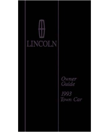 lincoln town car owners manual